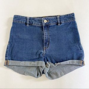 Divided high waisted shorts size 6
